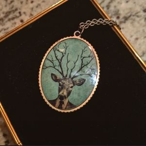 Vintage Style Deer Pendant Necklace